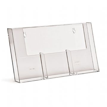 3W110H | 3 Pocket DL (1/3 A4) Portrait Leaflet Holder - side by side